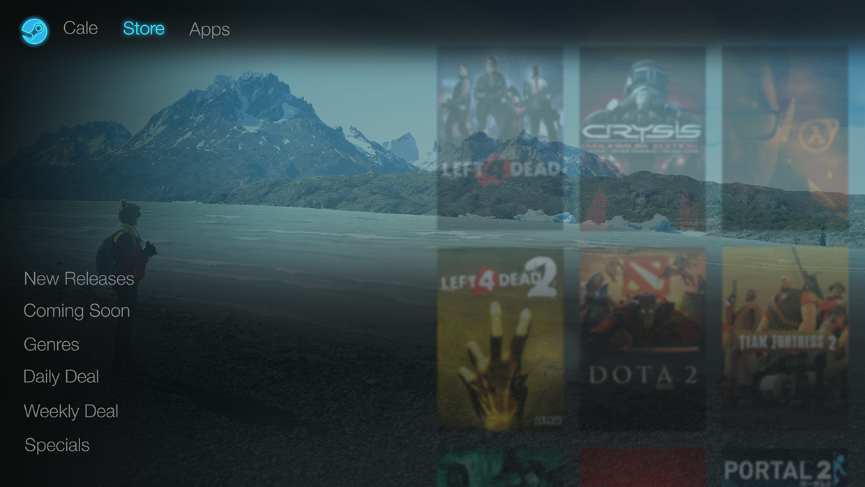 how to change your steam backround