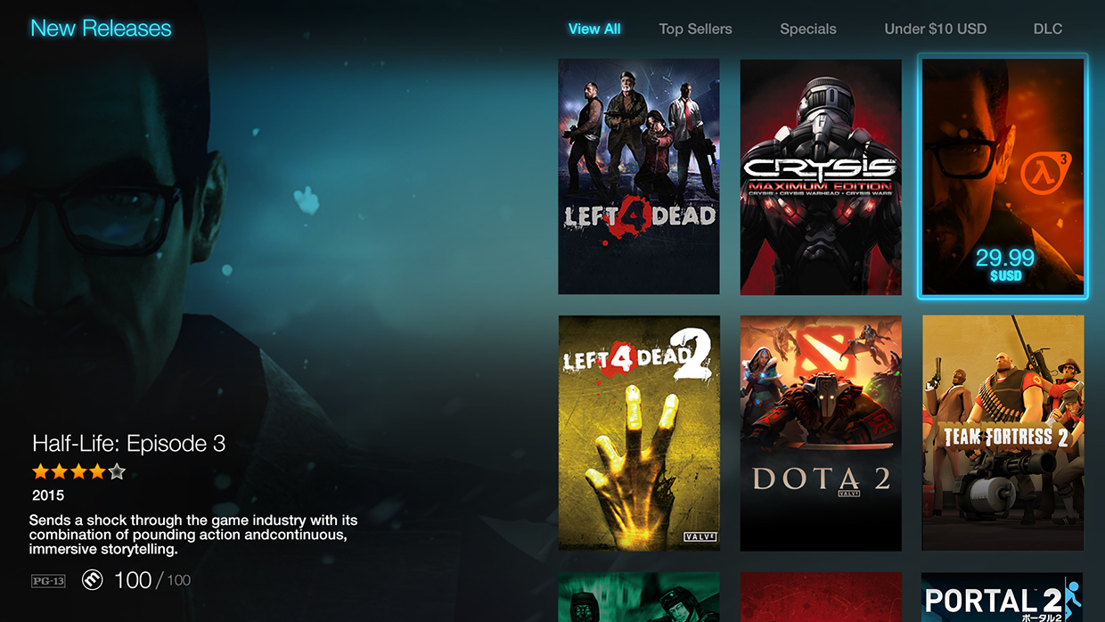 An Alternative UI for Steam's Big Picture Mode – Boiling Steam