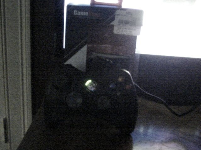 The controller I'll be using, photo taken by a crappy rear-end webcam