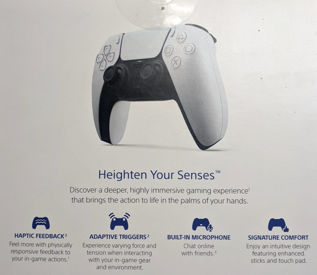 the back of the dualsense controller box