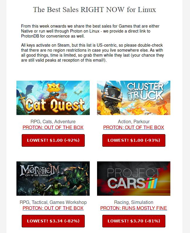 newsletter latest best deals for games