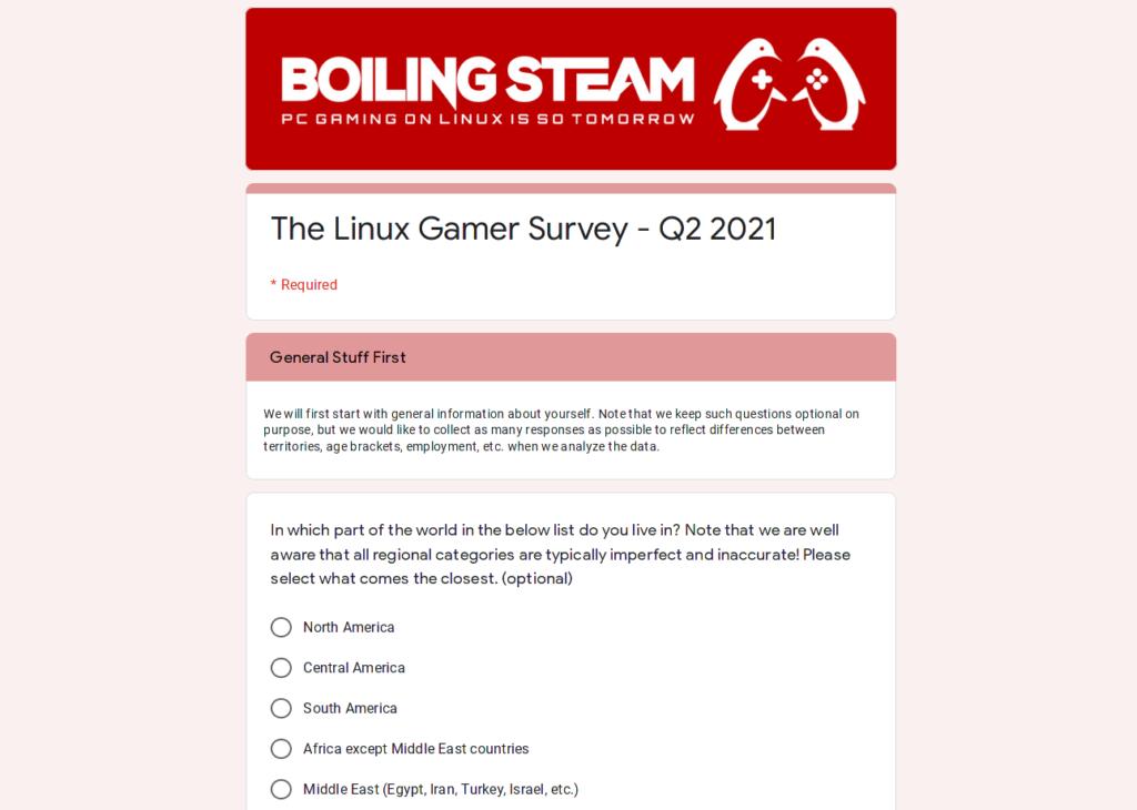 Linux Gamer Survey 2021