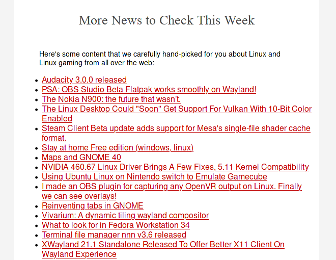 newsletter latest news from the web about linux and linux gaming