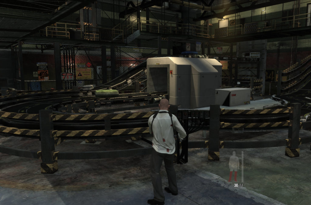 Max Payne 3: airport luggage center