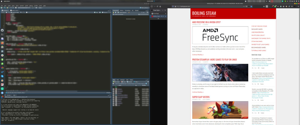 Productivity on Ultra-Wide display on Linux