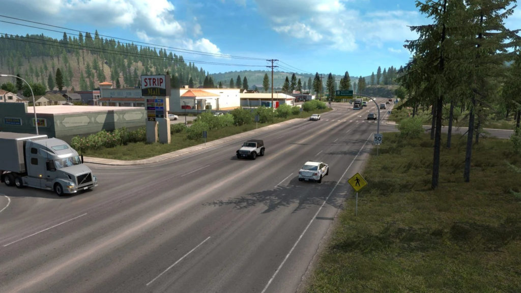 A typical Canada countryside road as it appears on promods Canada