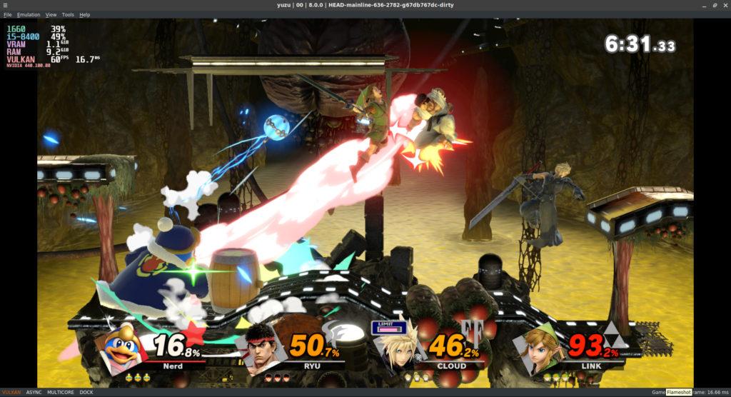 SSBU screenshot in Yuzu