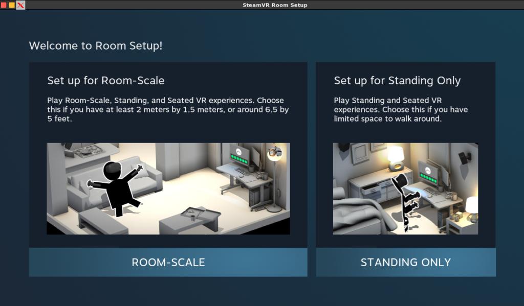 VR welcome to room setup