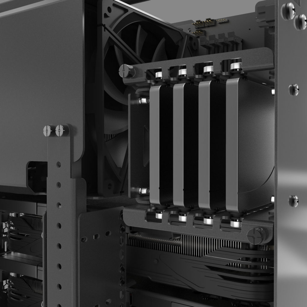 Inside the Thelio Mira's chassis